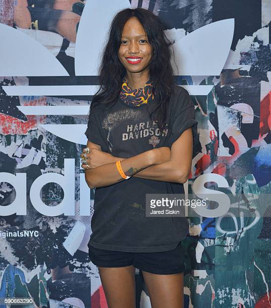 Adesuwa Aighewi attends at Private Concert Featuring Joey Bada$$ to Celebrate the Grand Opening of the Adidas Originals Soho Flagship Store on August...