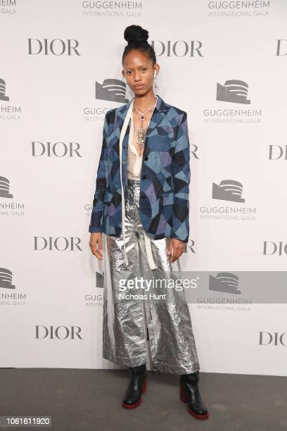 Adesuwa Aighewi attends the 2018 Guggenheim International Gala PreParty made possible by Dior at Solomon R Guggenheim Museum on November 14 2018 in...