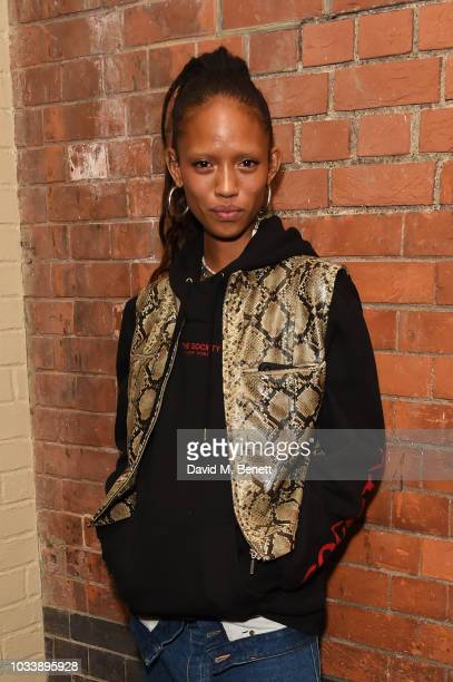 Adesuwa Aighewi attends the Christian Louboutin X Halpern post show party during London Fashion Week September 2018 on September 15 2018 at Chiltern...