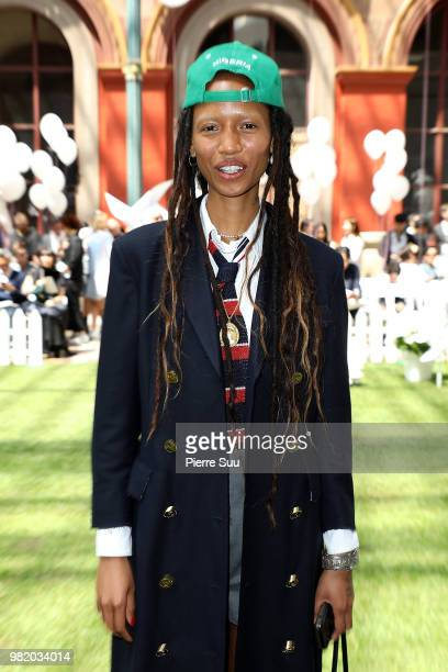 Adesuwa Aighewi attends the Thom Browne Menswear Spring/Summer 2019 show as part of Paris Fashion Week on June 23 2018 in Paris France