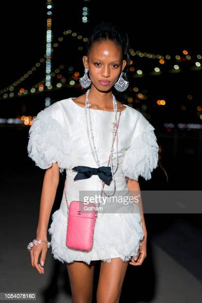 Adesuwa Aighewi attends the V Magazine Halloween Party presented by Chanel at Jane's Carousel on October 26 2018 in Brooklyn New York