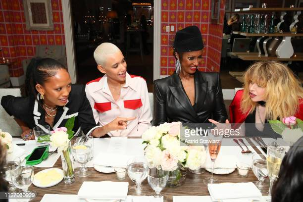 Adesuwa Aighewi Dilone Iman and Natasha Lyonne attend the InStyle Badass Women Dinner Hosted By Taraji P Henson And Laura Brown on February 02 2019...