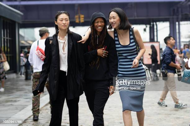Adesuwa Aighewi is seen on the street attending New York Fashion Week SS19 on September 12 2018 in New York City