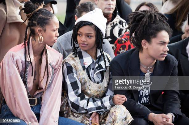 Adesuwa Aighewi Selah Marley and Luka Sabbat attend the Vivienne Westwood show as part of the Paris Fashion Week Womenswear Fall/Winter 2018/2019 on...
