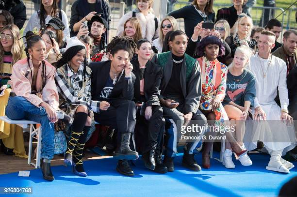 Adesuwa Aighewi Selah Marley Luka Sabbat Rose McGowan guest Justin Skye Yolandi Visser and Ninja attend the Vivienne Westwood show as part of the...