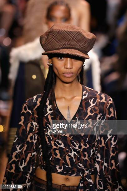 Adesuwa Aighewi walks the runway during the Michael Kors Collection Fall 2019 Runway Show at Cipriani Wall Street on February 13 2019 in New York City