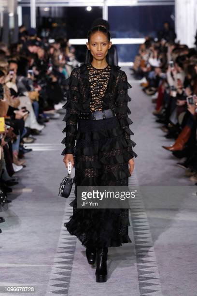 Adesuwa Aighewi walks the runway look 36 during the Longchamp FW19 Runway Show on February 9 2019 in New York City