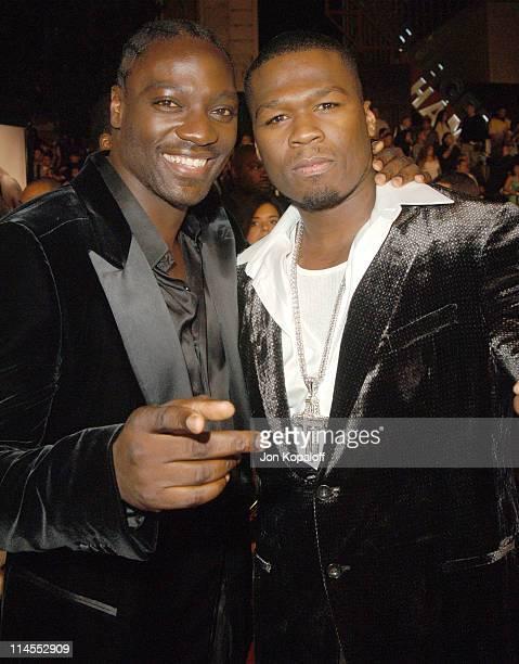 Adewale AkinnuoyeAgbaje and Curtis 50 Cent Jackson