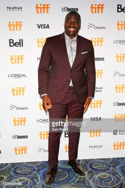 Adewale AkinnuoyeAgbaje attends the 'Farming' premiere during 2018 Toronto International Film Festival at Scotiabank Theatre on September 8 2018 in...