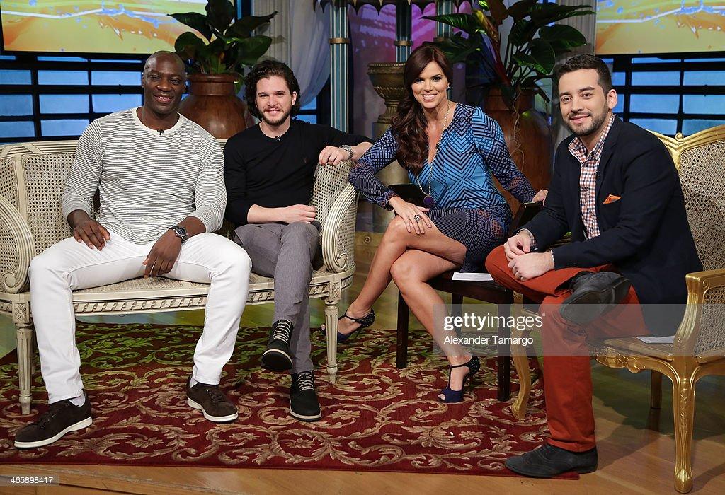 "On The Set Of Telemundo's ""Un Nuevo Dia"" : News Photo"