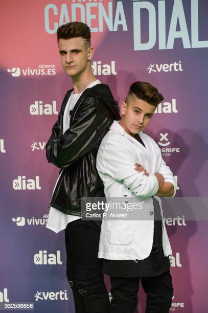 Adexe and Nau attend 'Cadena Dial' Awards 2018 Red Carpet on March 15 2018 in Tenerife Spain