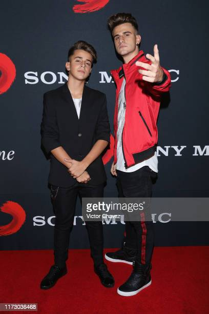 Adexe and Nau attend Sony Music opening studios red carpet at Sony Music studios on October 1 2019 in Estado de Mexico Mexico