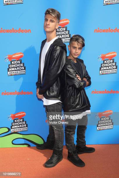 Adexe and Nau attend the Nickelodeon Kids' Choice Awards Mexico 2018 at Auditorio Nacional on August 19 2018 in Mexico City Mexico
