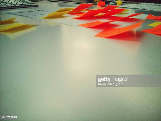 Adhesive Notes On Whiteboard