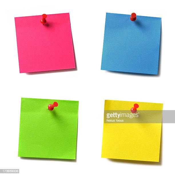 adhesive notes - push pin stock pictures, royalty-free photos & images