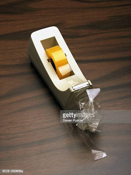 adhesive tape dispenser - tape dispenser stock photos and pictures