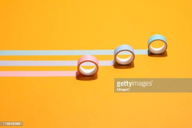 adhesive tapes moving forward - 固定された ストックフォトと画像