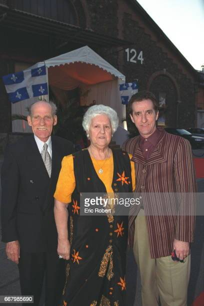 Adhémar and Thérèse the parents of Céline Dion with her brother Michel