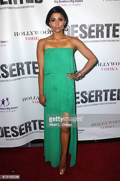 Adhrucia Apan arrives for the Premiere Of Winterstone Pictures' 'Deserted' held at Majestic Crest Theatre on October 6 2016 in Los Angeles California