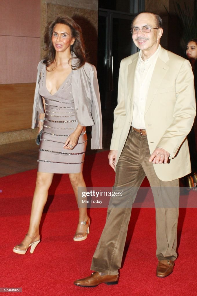 Adi and Parmeshwar Godrej at Big Pictures' success bash held in Mumbai on February 28, 2010.