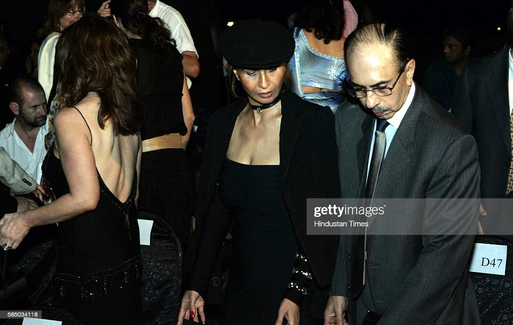 Adi and Parmeshwar Godrej at the Ferre and Trusardi fashion show at IMS Vikrant.