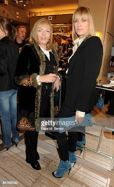 Adi Cook and Deborah Leng attend the Roger Vivier Champagne et Chocolat Party at Roger Vivier on February 12 2009 in London England
