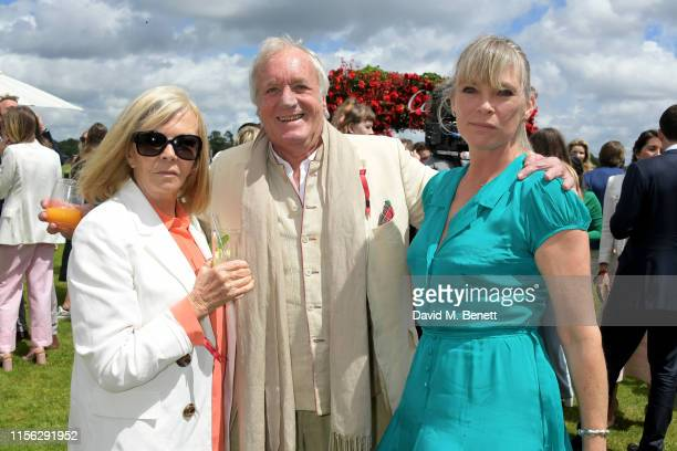 Adi Cook John Rendall and Debbie Leng attend The Cartier Queen's Cup Polo Final 2019 on June 16 2019 in Windsor England