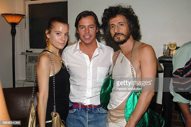 Adi Gabi and Andy Spade attend An Evening of Short Films hosted by Jack Spade at The National Arts Club on July 28 2005 in New York City