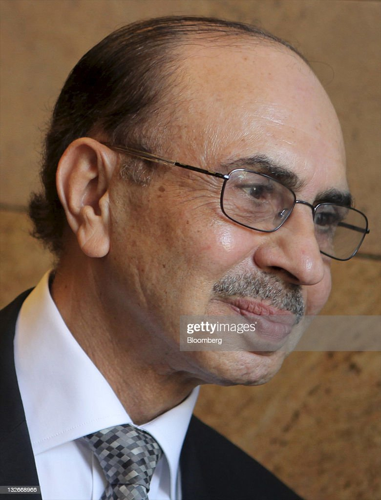 Adi Godrej, chairman of the Godrej Group, smiles during an interview at the World Economic Forum India Economic Summit 2011 in Mumbai, India, on Sunday, Nov. 13, 2011. The annual summit shifted to the country's financial capital this year after being held in Delhi for 26 years. Photographer: Adeel Halim/Bloomberg via Getty Images