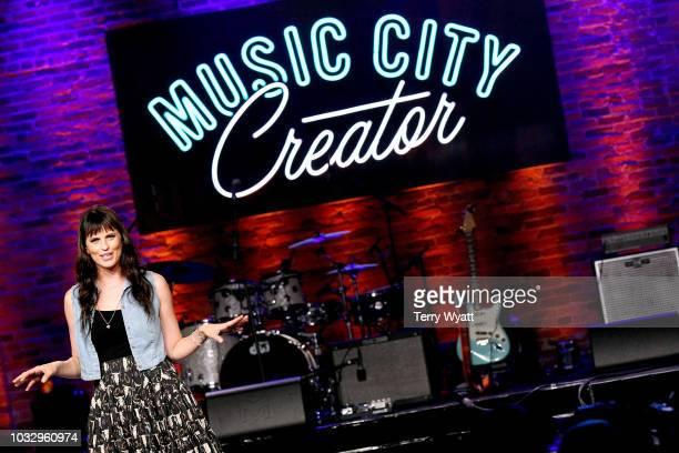 Adi Neumann speaks onstage during Nashville Creator Awards hosted by WeWork at Marathon Music Works on September 13 2018 in Nashville Tennessee