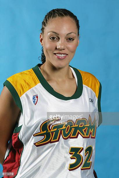Adia Barnes of the Seattle Storm at Seattle Storm Media Day at The Furtado Center in Seattle Washington on April 29 2002 DIGITAL IMAGE NOTE TO USER...