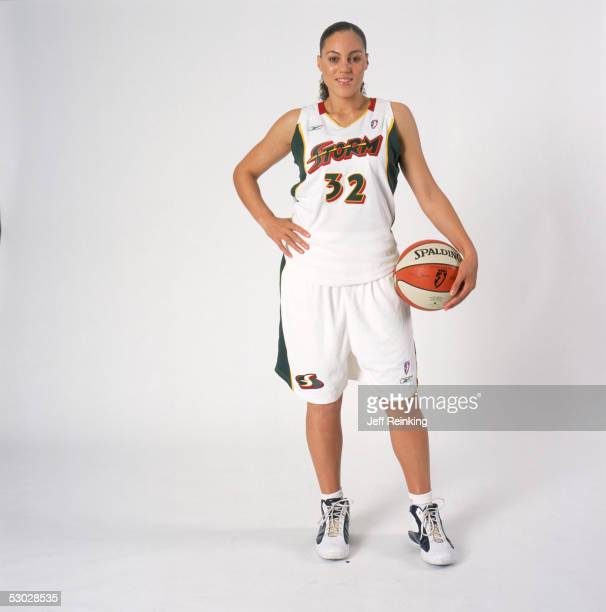 Adia Barnes of the Seattle Storm poses for a portrait on May 14 2005 at Key Arena in Seattle Washington NOTE TO USER User expressly acknowledges and...
