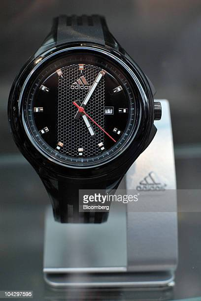Adidas AG wristwatches sit on display at the company's headquarters in Herzogenaurach Germany on Monday Sept 20 2010 Adidas AG Chief Executive...