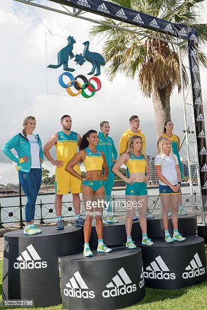 Adidas and the Australian Olympic Committee joined by Australian Olympic athletes and Rio hopefuls including Sally Pearson, Kyle Chalmers, Madison...