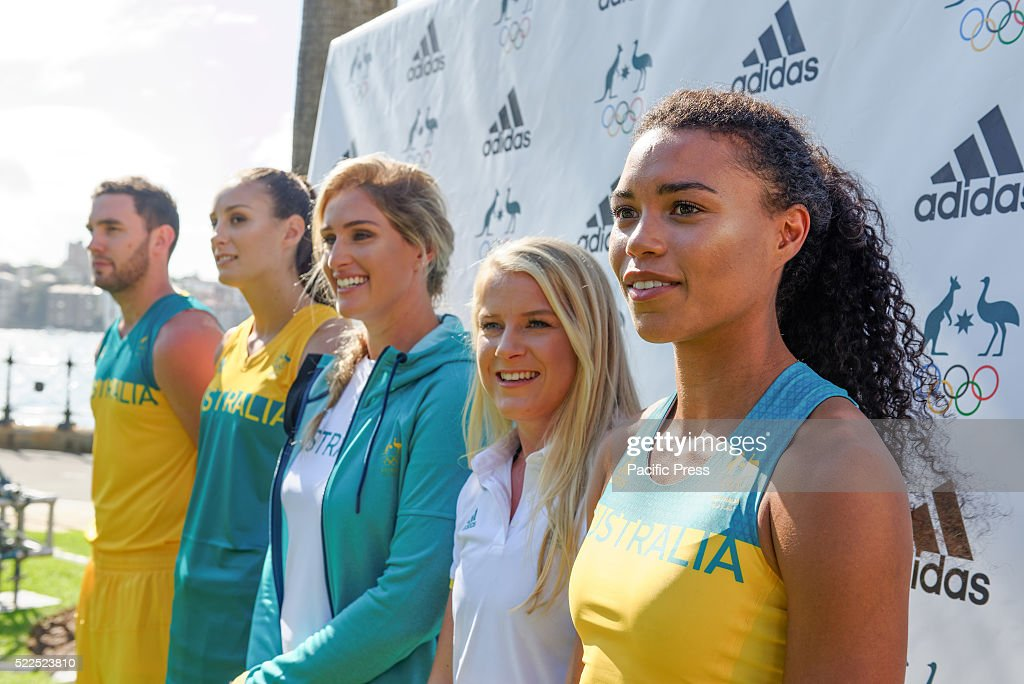 Adidas and the Australian Olympic Committee joined by... : News Photo