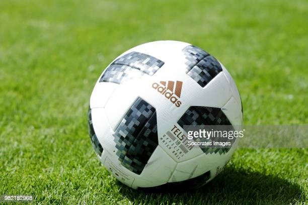 Adidas ball during the Club Friendly match between VVSB v Ajax at the Sportpark De Boekhorst on June 23 2018 in Noordwijkerhout Netherlands