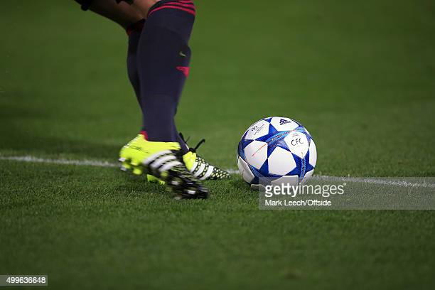 Adidas branded football boots and socks during the UEFA Champions League Group G match between Chelsea and Maccabi TelAviv at Stamford Bridge on...