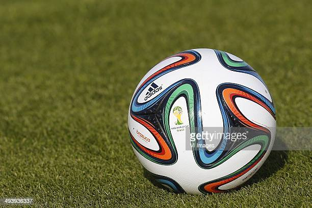 Adidas Brazuca ball during day 2 of the training camp of The Netherlands on May 21 2014 at Lagos Portugal