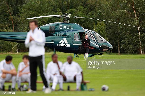 adidas bring footballer Lionel Messi to London to promote an F50 adizero football boot event on Hackney Marshes on September 15 2010 in London...