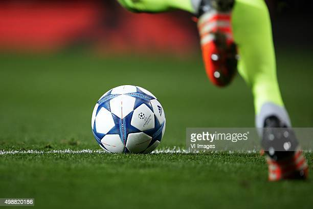 Adidas Champions league ball during the UEFA Champions League group B match between Manchester United and PSV Eindhoven on November 25 2015 at Old...