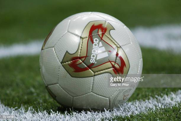 Adidas Fevernova matchball during the FIFA World Cup Finals 2002 Group A match between France and Uruguay played at the Asiad Main Stadium, in Busan,...