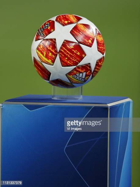 Adidas Finale Madrid official final match ball of UEFA Champions League 2018/2019 during the UEFA Champions League round of 16 match between FC...