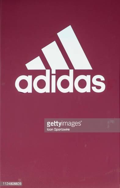 Adidas Logo on a wall panel during the a college softball game between the CSUN Matadors and the Arizona State Sun Devils during the 2019 Kajikawa...