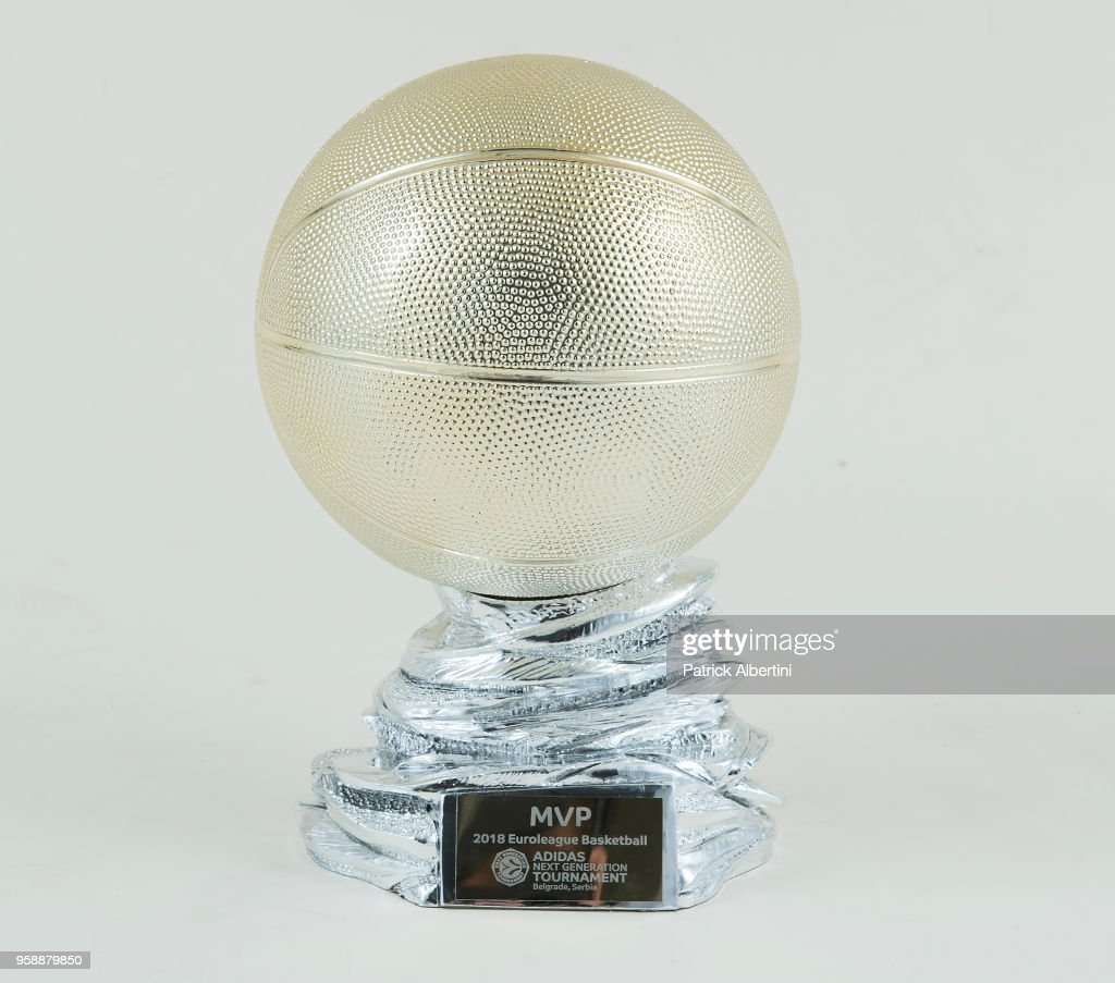 Adidas Next Generation Tournament MVP Award during 2018 Turkish Airlines EuroLeague F4 Trophy Session at Stark Arena on May 16, 2018 in Belgrade, Serbia.