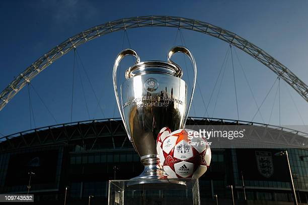 Adidas present the Official Match Ball for the 2011 UEFA Champions League Final at Wembley Stadium on March 3, 2011 in London, United Kingdom.