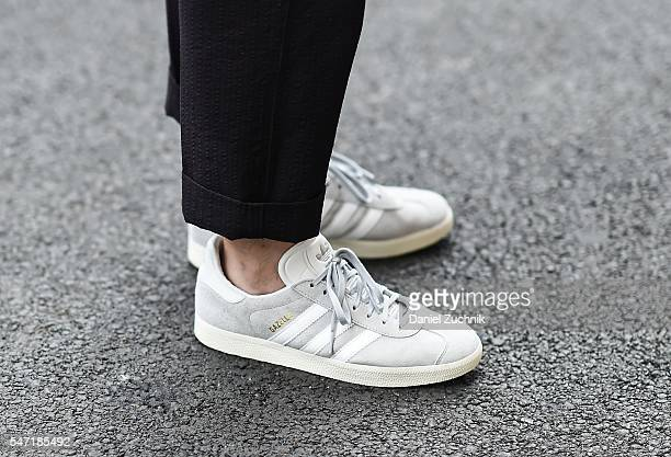 Adidas Samba sneakers seen outside the Nautica show during New York Fashion Week Men's S/S 2017 Day 3 on July 13 2016 in New York City