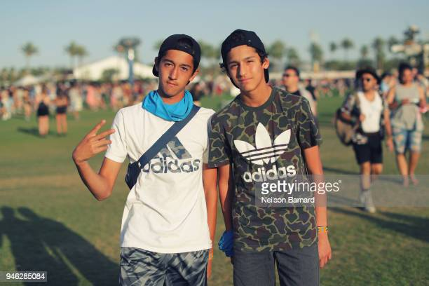 adidas seen around Coachella on April 13 2018 in Indio California