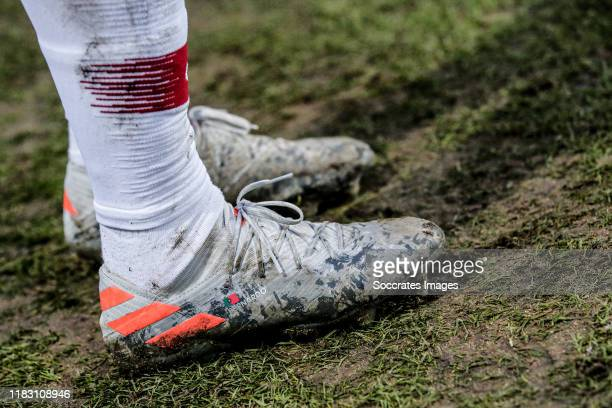 Adidas shoes from Bernardo Silva of Portugal during the EURO Qualifier match between Luxembourg v Portugal on November 17, 2019