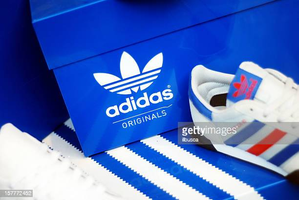 Adidas shoes in store window