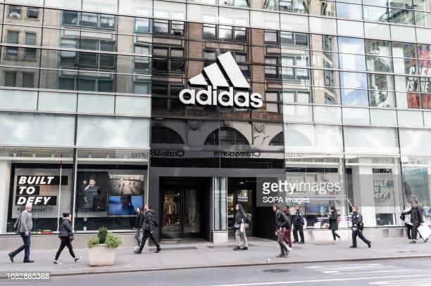 Adidas store in the SoHo neighbourhood of New York City